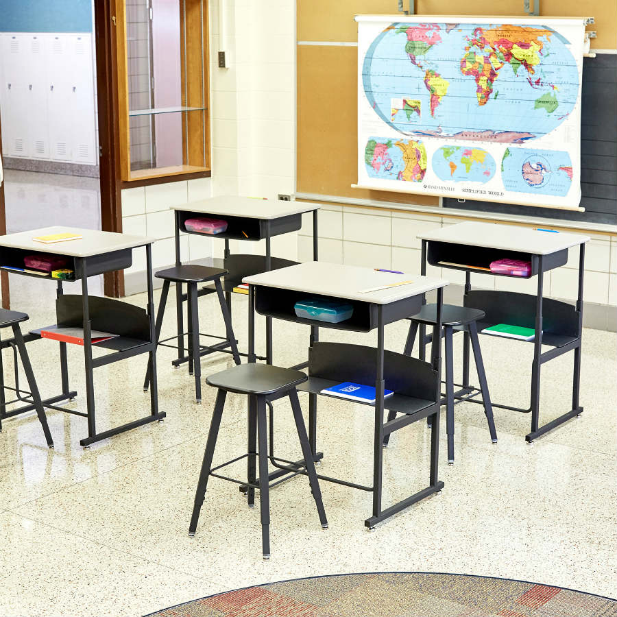 AlphaBetter Student Desks and Stools