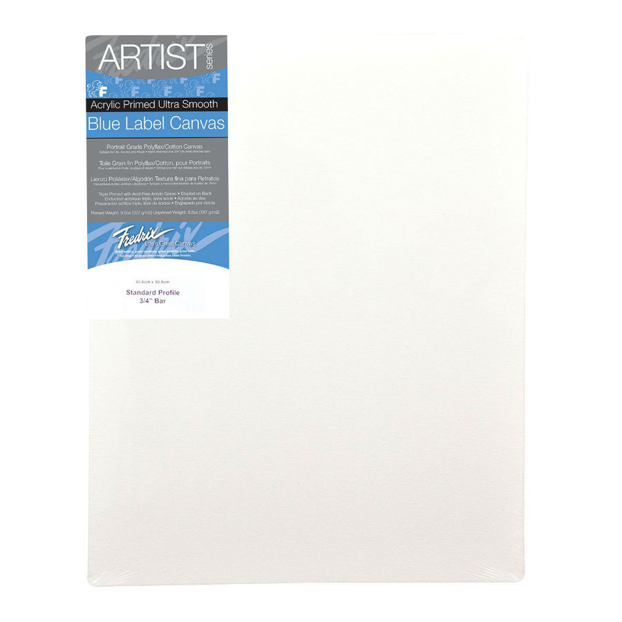 Fredrix Blue Label Ultrasmooth Stretched Canvas