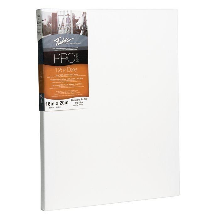 Fredrix PRO Series Dixie Stretched Canvas with Standard Bar