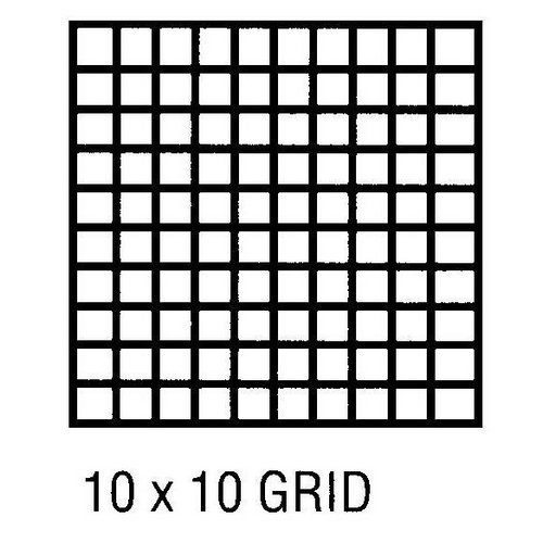 10 x 10 grid Colouring Pages