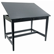 "36"" x 48"" Vanguard Drawing Room Table in Black Ash 33.5"" Height"