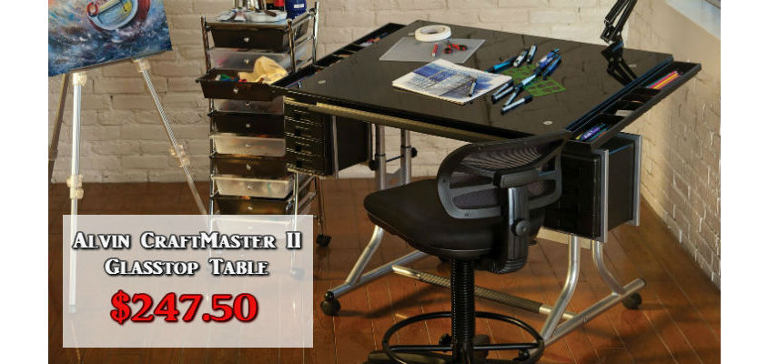 Alvin Craftmaster II Glass Top Drafting Table
