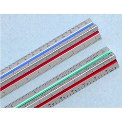 "12"" Aluminum Color-Coded Metric Architect Scale"