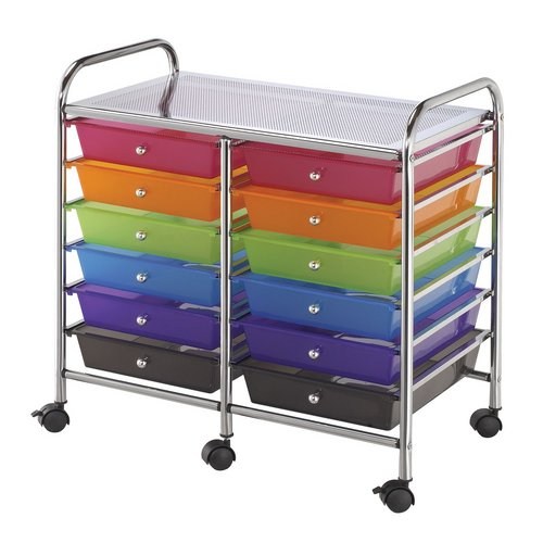 SC12MCDW : Blue Hills Studio 12-Drawer Multi-Colored Storage Cart