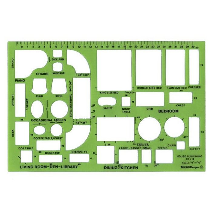 Alvin Scale House Furnishing Template Td714