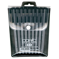MLB2 : Copic 9-Piece Set of Disposable Multiliner Pens