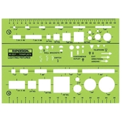 "327R : RapidDesign¼"" and-1/8"" Scale Lighting Fixtures Template"