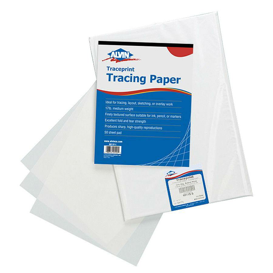 "6811-S-1 : Alvin 8.5"" x 11"" Traceprint Tracing Paper - 100 Sheet Pack"