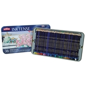 2301842 : Derwent Derwent Inktense Water Soluable Colored Pencils 36-Color Set in Tin