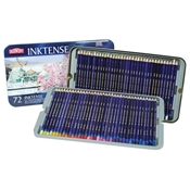 2301843 : Derwent Derwent Inktense Water Soluable Colored Pencils 72-Color Set in Tin