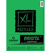 "9"" x 12"" Recycled Two-Sided Bristol Pad - Vellum/Smooth Surface"