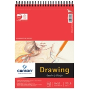 "C100510978 : Canson 9"" x 12"" Foundation Series Drawing Paper Pad"