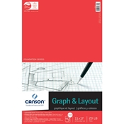 "C100510885 : Canson 11"" x 17"" Foundation Series 8X8 Graph and Layout Sheet Pad"