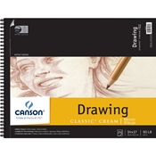 "C100510975 : Canson 14"" x 17"" Artist Series Classic Cream Drawing Paper Pad"