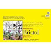 "11"" x 17"" 300 Series Sequential Art Bristol Pad - Smooth Surface"