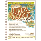 "9"" x 12"" Visual Journal Wirebound Mixed Media Book Drafting Paper and Drawing Media, Sketchbooks and Sketch Pads, 9"" x 12"" Visual Journal Wirebound Mixed Media Book"