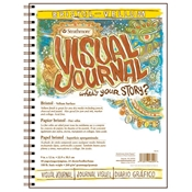 "9"" x 12"" Visual Journal Wirebound Bristol Book - Vellum Surface Drafting Paper and Drawing Media, Sketchbooks and Sketch Pads, 9"" x 12"" Visual Journal Vellum Wirebound Bristol Book"