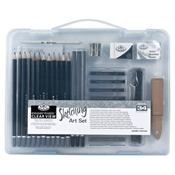 RSET-ART3105 : Royal & Langnickel Sketching Clear View Small Art Case Set