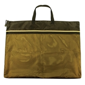 "18"" x 24"" Dual Zippered Pocket Fabric Mesh Bag Drafting Supplies, Portfolios and Cases, Utility Bags"