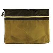 "10"" x 13"" Dual Zippered Pocket Fabric Mesh Bag Drafting Supplies, Portfolios and Cases, Utility Bags"