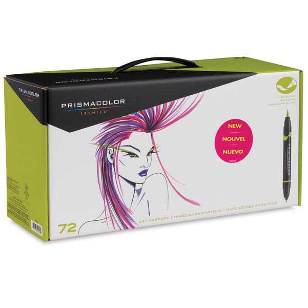 Sn1773303 sanford prismacolor brush marker 72 color set