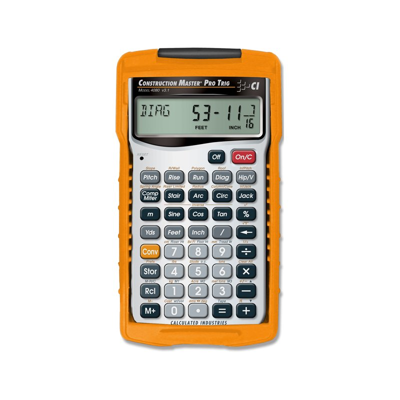 Ci4080 calculated industries construction master pro trig New construction calculator