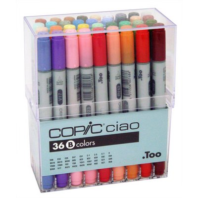 I36B : Copic Ciao Markers - 36 Marker Set B