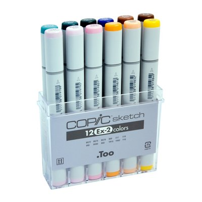 S12EX-2 : Copic EX-2 Set of 12 Sketch Markers