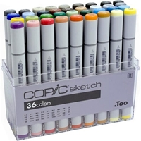 SB36 : Copic Set of 36 Basic Sketch Markers