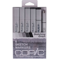 SNGRAY : Copic Sketch 6pc Grays Set