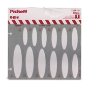 1228-15i : Pickett 15° Ellipse Template