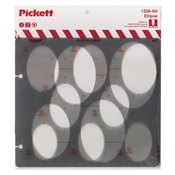 1228-45i : Pickett 45° Ellipse Template