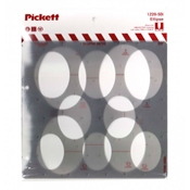 1228-50i : Pickett 50° Ellipse Template