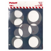 1228-70i : Pickett 70° Ellipse Template