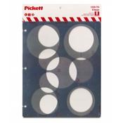 1228-75i : Pickett 75° Ellipse Template