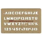 "301I (DISC) : Pickett½"" Alphabet Template"