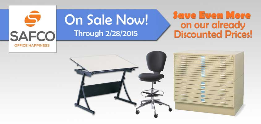 Safco Flat Files, Drafting Tables, Drafting Chairs on Sale!