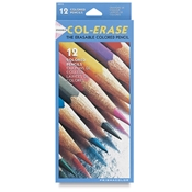 12-Color Col-Erase Pencil Set Drafting Supplies, Drafting Pencils and Leads, Colored Pencils, Sanford Col-Erase Pencils