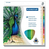 24-Set Triangular Colored Pencils