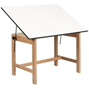 "WOB42 : Alvin 31"" x 42"" Titan Natural Finish Drafting Table 30"" High, No Drawer"