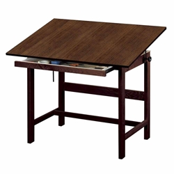 "WTB42-WA : Alvin 31"" x 42"" Titan Walnut Finish Drafting Table 37"" High"