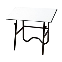 "ONX42-3 : Alvin 30"" x 42"" Onyx Drafting Table, Base Color: Black"
