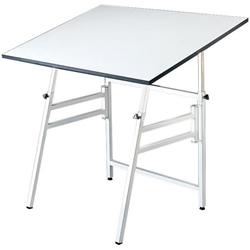 "Model XI-4-XB : Alvin 31"" x 42"" Professional Drafting Table, Base Color: White"