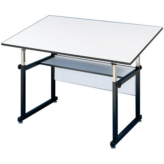 "WM60-3-XB : Alvin 37.5"" x 60"" WorkMaster Drafting Table, Base Color: Black"