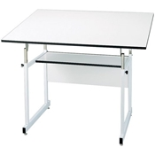 "WMJ48-4-XB : Alvin 36"" x 48"" WorkMaster Jr. Drafting Table, Base Color: White"