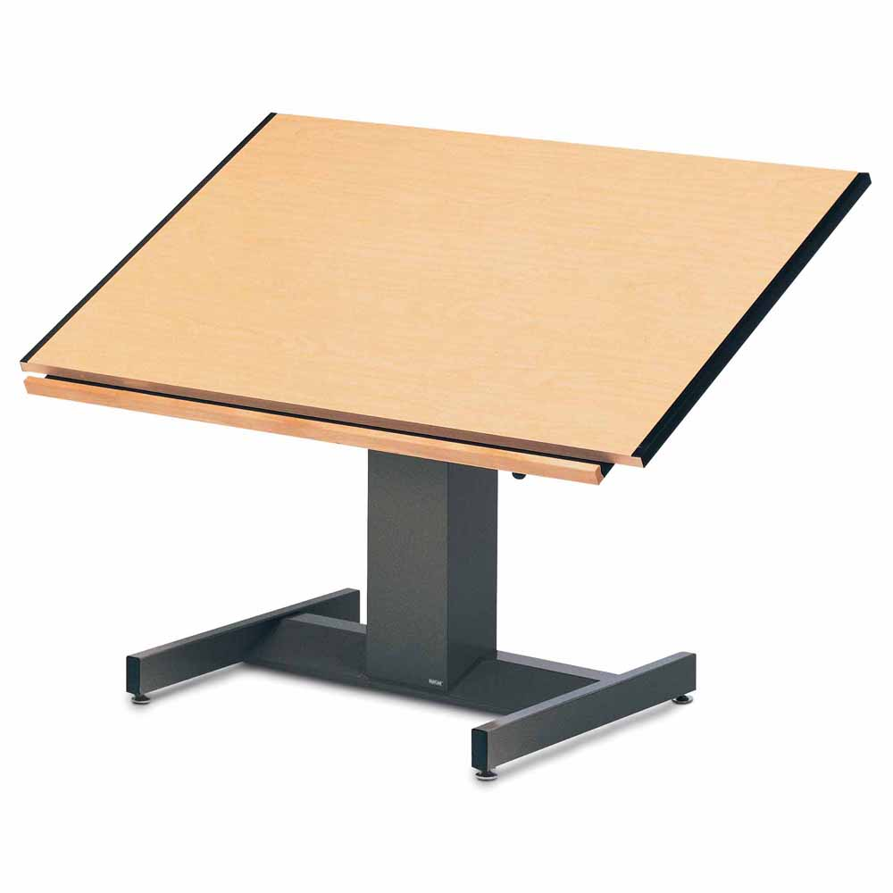 Drafting table dimensions - 8693b Mayline 30 X 42 Futur Matic Drafting Table Electric Height
