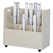 3043 : safco Mobile Roll Files/21 Tubes