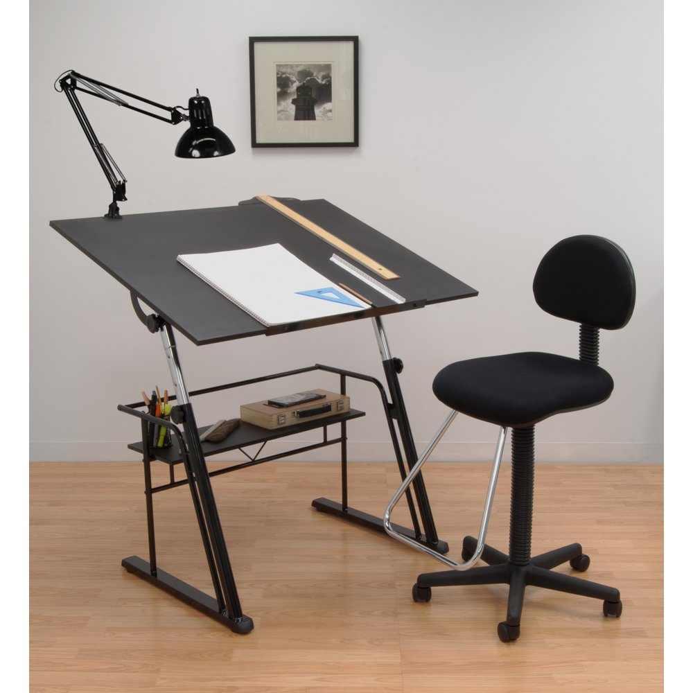 Studio designs zenith drafting set color black 32640 for Art table design