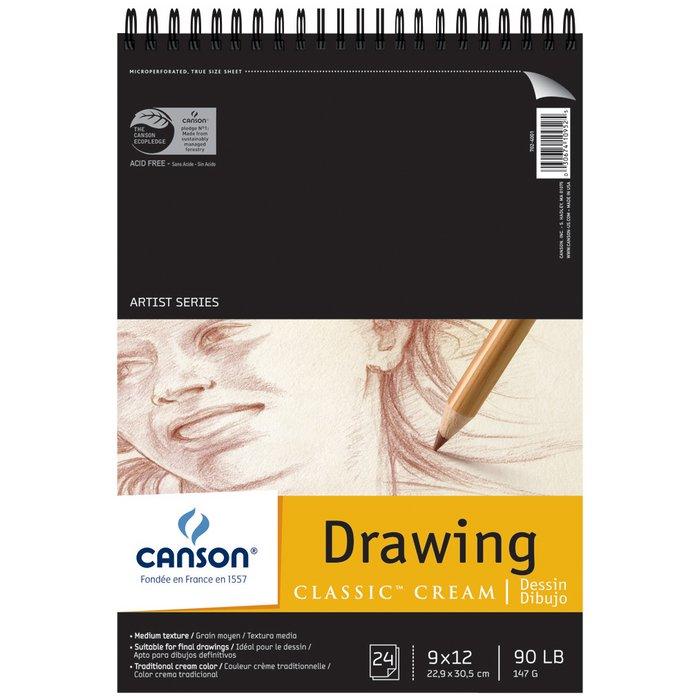 Canson Artist Series Classic Cream Drawing Paper