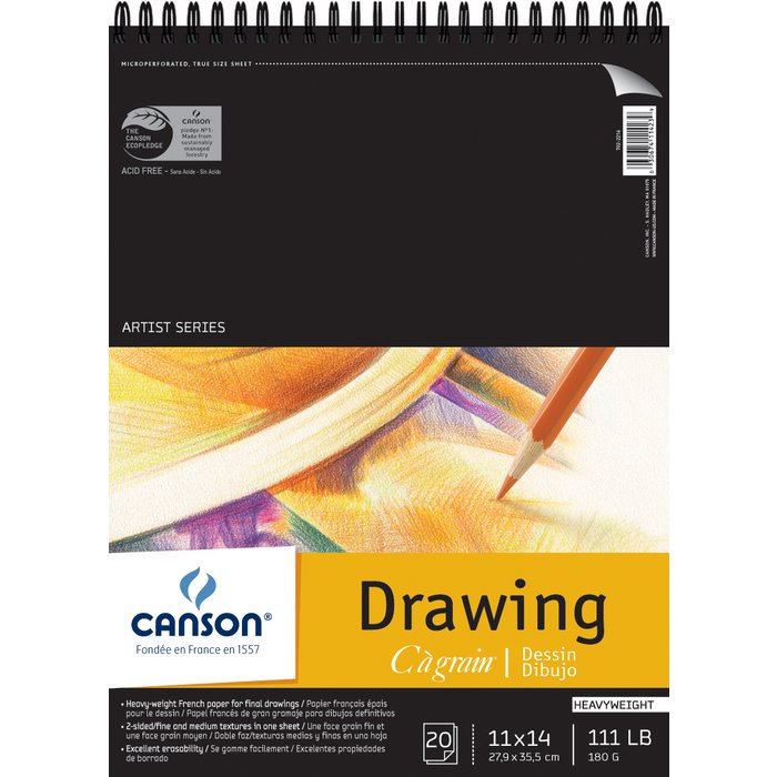 Canson C A Grain Artist Series Wire Bound Drawing Pads